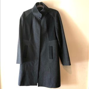 SAKS FIFTH AVENUE BLACK LABEL LORO PIANA WOOL COAT